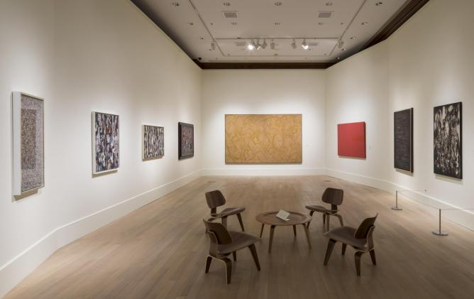 Installation view of From the Margins: Lee Krasner | Norman Lewis, 1945-1952. | Photo by: David Heald, © The Jewish Museum, NY.