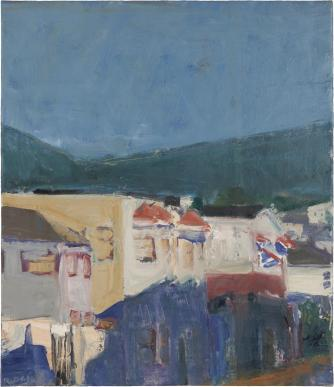 Buildings -- Hill Background 1961 | Courtesy The Estate of Richard Diebenkorn