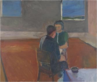 Man and Woman Seated | Courtesy The Estate of Richard Diebenkorn