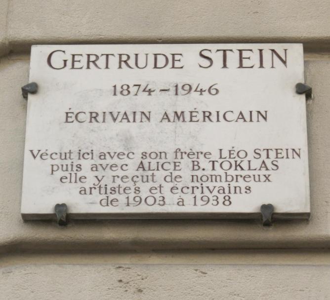 Gertrude Stein plaque