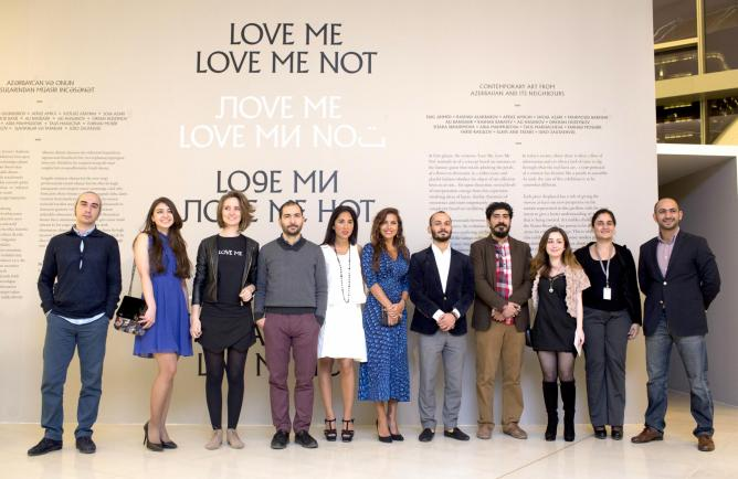 YARAT Team members and artists at the opening of Love Me Love Me