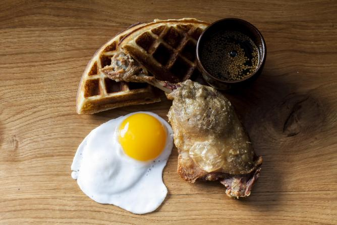 Duck & Waffle dish