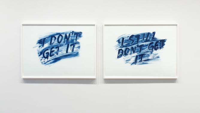 Mel Bochner exhibition, installation view, Barbara Krakow Gallery, 2014   Courtesy Mel Bochner & Barbara Krakow Gallery