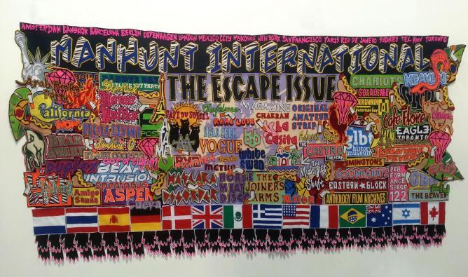 Jody Paulsen, Manhunt International, 2014. Felt, 4,5 x 2m. Courtesy of the artist and Brundyn+, Cape Town