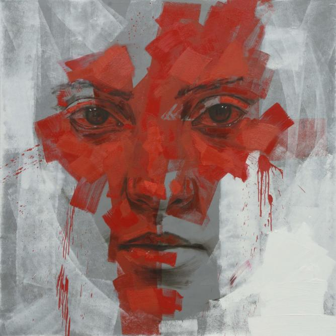 Lionel Smit, Siren, 2013. Triptych #2, Oil on Belgian Linen, 190 x 190cm. Courtesy of the artist.