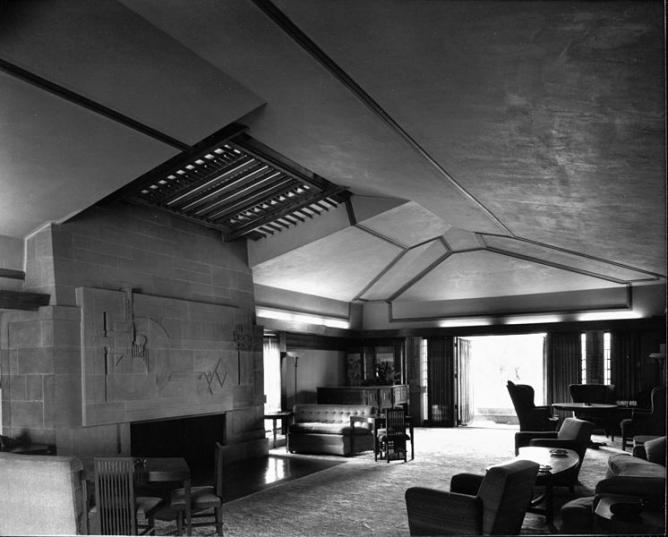Hollyhock House Interior | © Julius Shulman/WikiCommons
