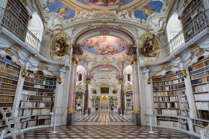 Library at Admont Abbey | © Jorge Ryan/Wikicommons