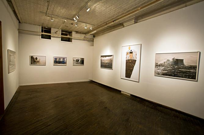 Installation view of Stephen Mallon's 'Next Stop Atlantic' Series | Courtesy the Artist and Front Room