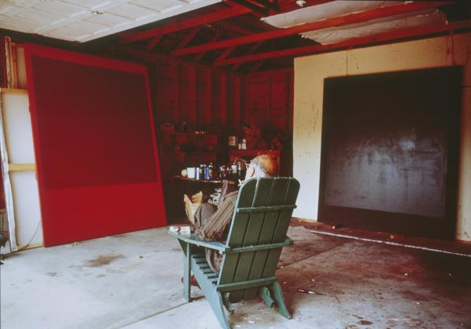 Mark Rothko in his studio, 1964, cibachrome | © Hans Namuth/Courtesy of the National Portrait Gallery, USA