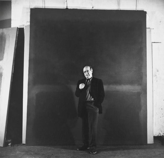Rudy Burckhardt (1914-1999), Mark Rothko, New York, 1960, gelatinezilverdruk, Albright-Knox Art Gallery, Buffalo – Gift of Seymour H. Knox Jr.