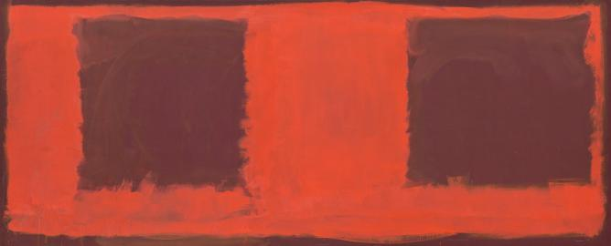 Mark Rothko, Untitled (Seagram Mural sketch), 1959, Oil on canvas, 182,6 x 450,2 cm | Courtesy Gemeentemuseum den Haag