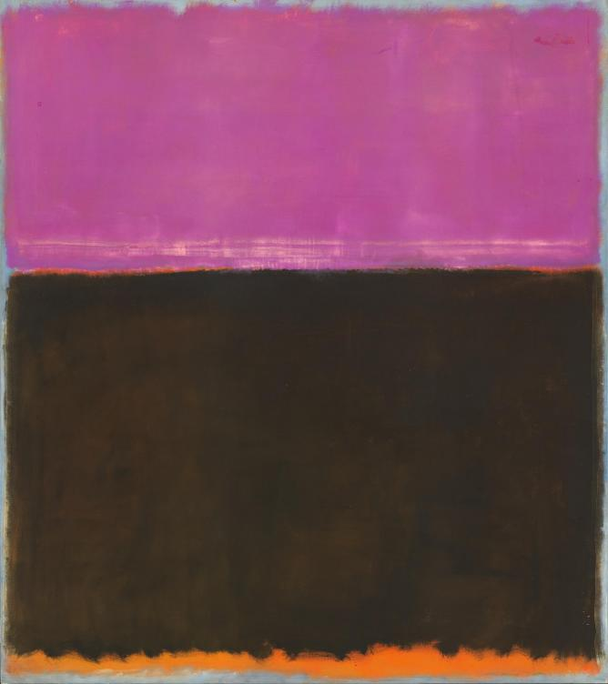 Mark Rothko, Untitled, 1953, Mixed media on canvas, 195 x 172,1 cm | Courtesy Gemeentemuseum den Haag