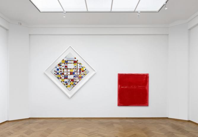 Piet Mondrian, Victory Boogie Woogie, 1944 & Mark Rothko, Untitled, 1970 | © Gerrit Schrreurs, Courtesy Gemeentemuseum den Haag