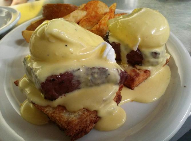Eggs Benedict | Courtesy of Rae's Lakeview Lounge