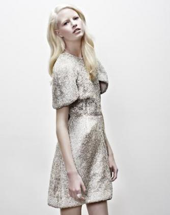 Model Krystal Glynn dons Kym Ellery's crystal dress for StyleMeRomy.com | Courtesy Kym Ellery