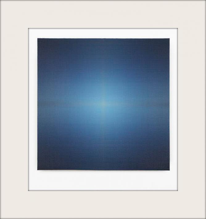 Xie Molin, Overlay No.056, 2014, acrylic and acrylic medium on canvas, 175 x 175 cm   Courtesy the artist and Beijing Commune