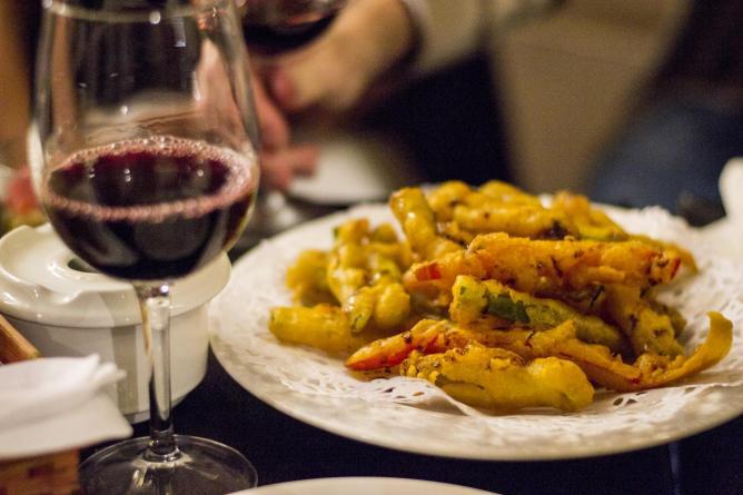 Hortalizas en tempura | Courtesy of Leyla Kazim