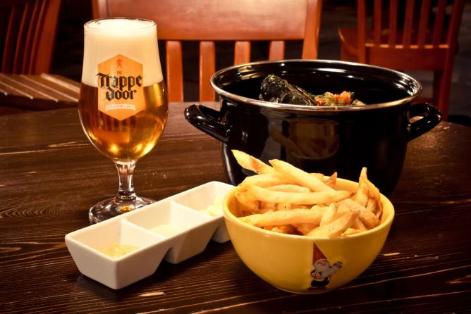 Moules Frites from the Trappe Door. Another delicious option from one of the best restaurants in Greenville, SC