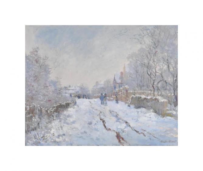 Snow at Argenteuil by Monet | © WikiCommons