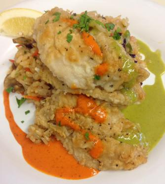 Snapper with Rice Pilaf | Courtesy of I'd Eat There
