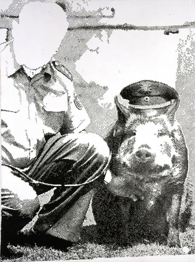 Police Pig (Polizeischwein) 1986 © The Estate of Sigmar Polke / DACS, London / VG Bild-Kunst, Bonn