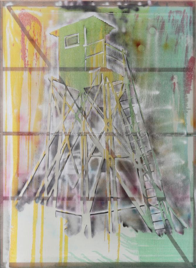 Watchtower (Hochsitz)1984 IVAM, Institut Valencia d'Art Modern, Valencia, Spain © The Estate of Sigmar Polke / DACS, London / VG Bild-Kunst, Bonn