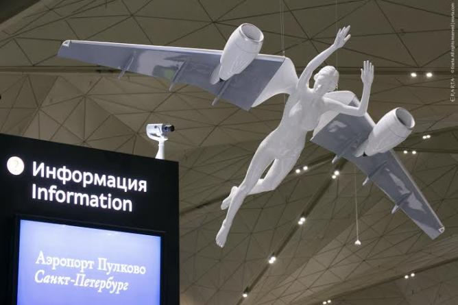 Angel at Pulkovo airport, Dmitry Shorin| Courtesy of ERARTA