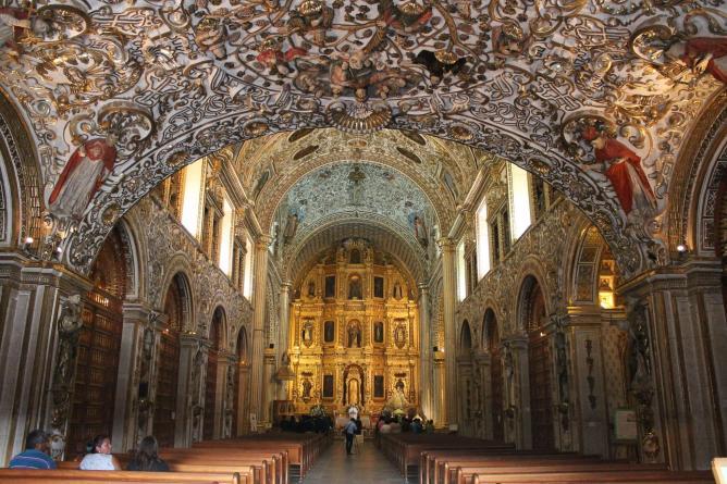 Interior Templo de Santo Domingo de Guzmán