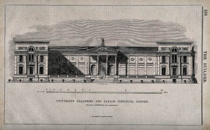 Ashmolean Museum and Taylorian Institute, Oxford: panoramic|© Wellcome Images/Wikicommons