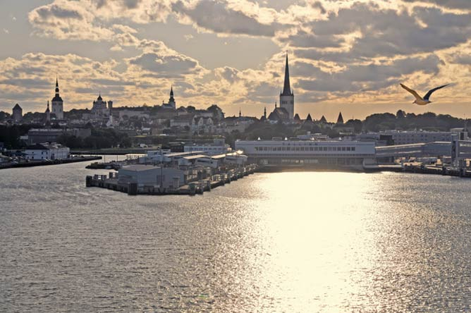 A view of Tallinn Harbour