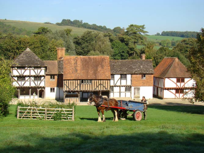 Market Square with Horse and Cart | Courtesy of Weald and Downland Open Air Museum