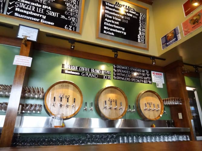 Taps at Cascade Brewing Barrel House | Courtesy of Cascade Brewing Barrel House