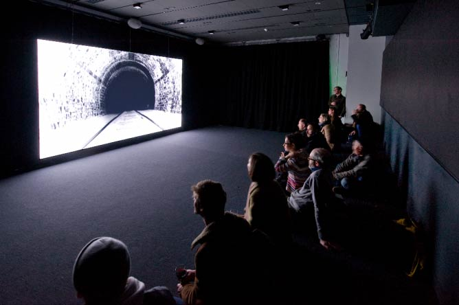 John Smith, White Hole, 2014. Installation view: Tyneside Cinema, 2014 | © Colin Davison