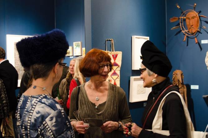 Fair goers at John Molloy Gallery