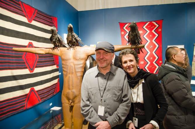 Mark Kindschi and Nancy Zander of John Molloy Gallery