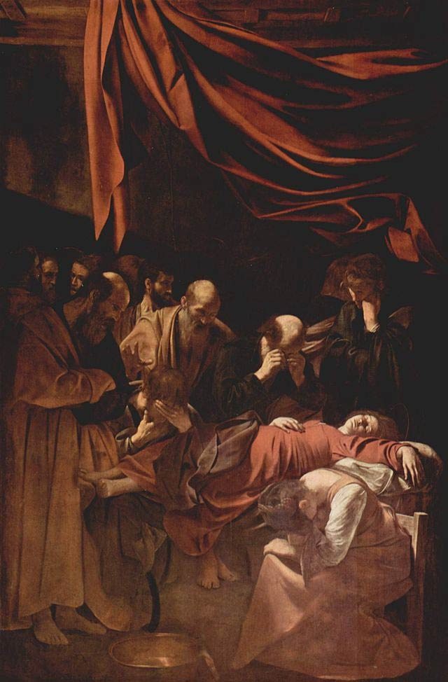 Caravaggio, 'Death of the Virgin', Oil on Canvas, 369cm x 245cm, 1606 | Public Domain/WikiCommons