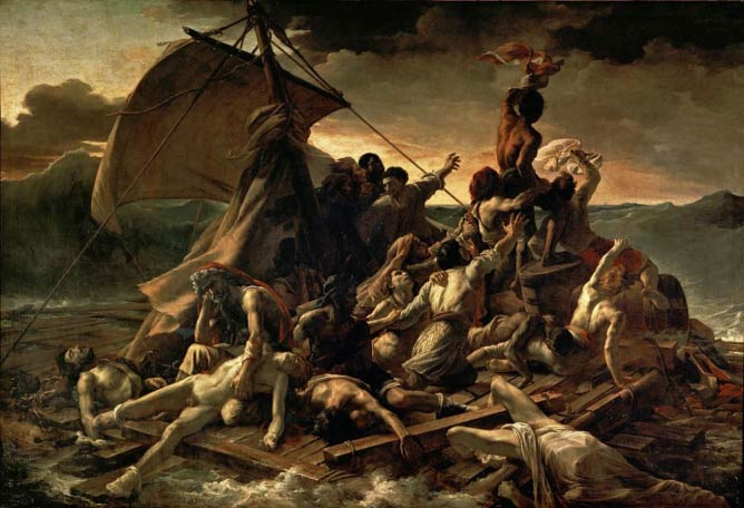 Théodore Géricault, 'The Raft of the Medusa', Oil on Canvas, 491cm x 716cm, 1818-9 | Public Domain/WikiCommons