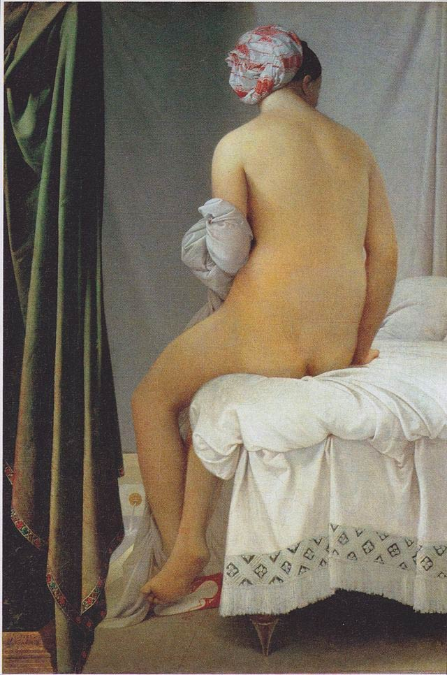 Jean Auguste Dominique Ingres, 'The Valpinçon Bather', Oil on Canvas, 146cm x 97.5cm, 1808 | Public Domain/WikiCommons