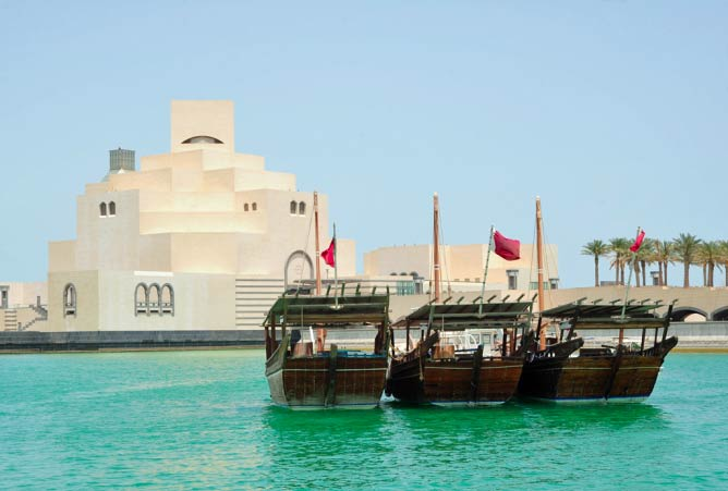 Islamic Museum of Art and Dhows | © Steven Byles/Flickr