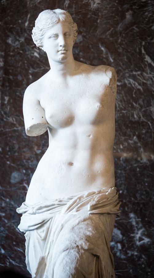 Alexandros of Antioch, 'Aphrodite of Milos', Marble, 203cm x 40cm x 40cm, c. 130-00 BCE | Public Domain/WikiCommons