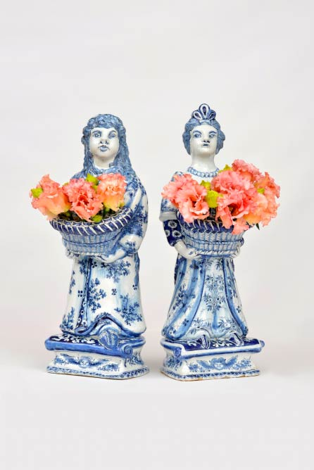 A Pair Of Delft Bouquetieres | Image Courtesy Of Aronson Of Amsterdam