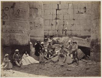 The Prince of Wales and party among ruins in Karnak, Thebes, Egypt, March 1862 Royal Collection Trust ® Her Majesty Queen Elizabeth II 2014