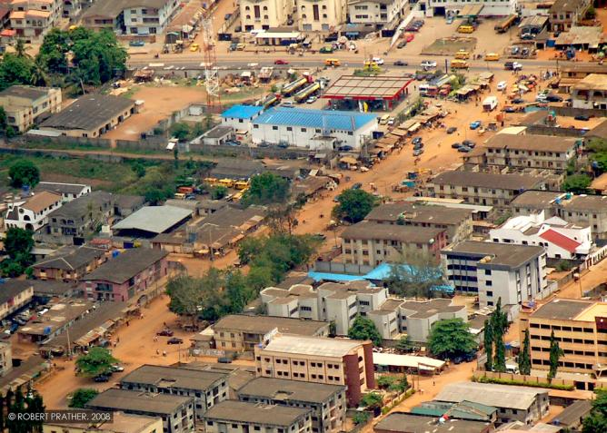 An aerial view of the City of Lagos, Nigeria © Robert/Flickr