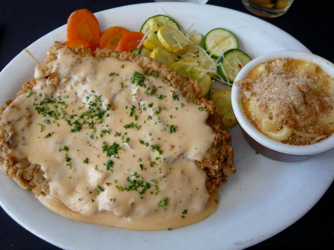 Chicken Fried Steak with Mac n' Cheese