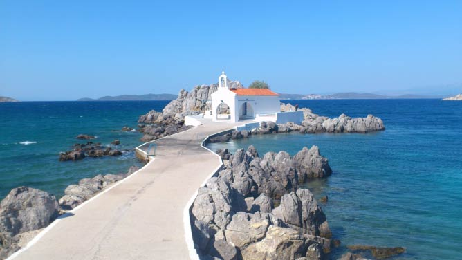 A beautiful image of island Chios, in Greece