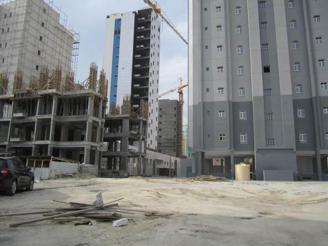 [four buildings under construction - Hawalli]