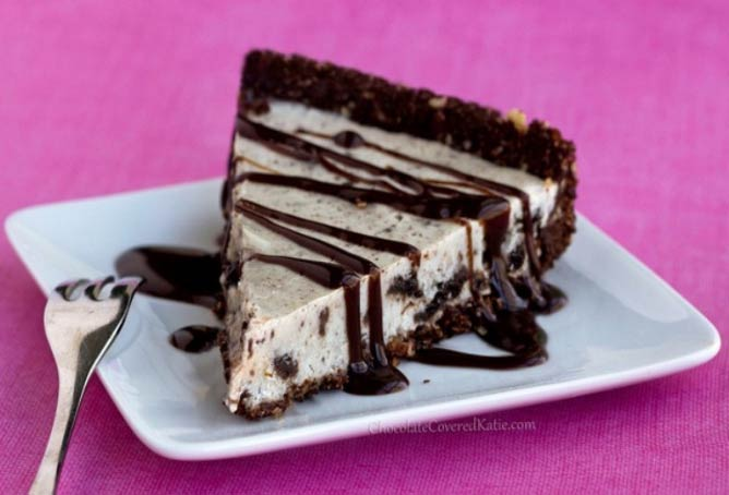No-Bake Oreo Cookie Pie | Courtesy Chocolate-Covered Katie