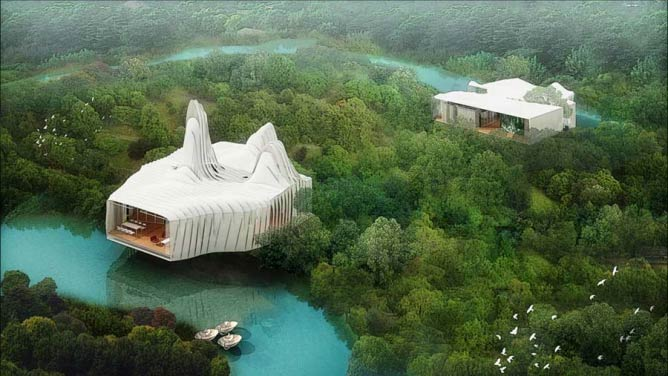 Bird Island Villas | © Graft/Courtesy of e-architect