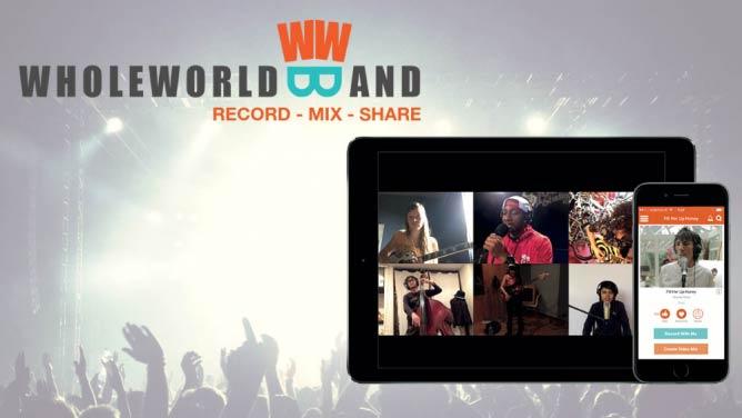 WholeWorldBand on iPhone and iPad   Courtesy WholeWorldBand