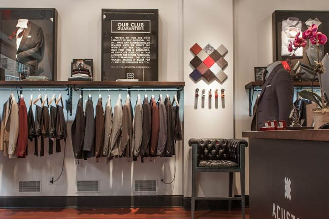 Acustom Apparel's brick-and-mortar store in Manhattan, New York | Courtesy Acustom Apparel